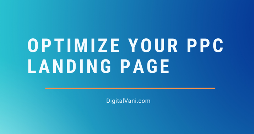 Optimize Your PPC Landing Page