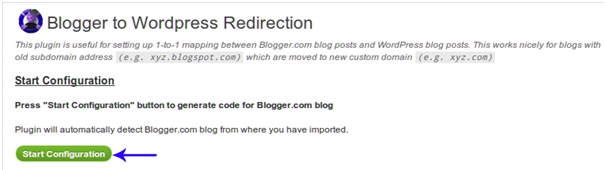 Redirect the blogger