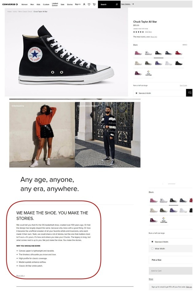 official Converse website